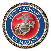 Proud Wife of a U.S. Marine Circle Magnet