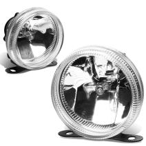 Pair of 3.5 inches Round Universal Clear Glass Lens Fog Lights + Adjustable Mounting Kit