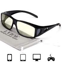 LVIOE Fit Over Blue Light Blocking Glasses and Computer Eyewear- Wear Over Prescription Glasses/ Reading Glasses/ RX Glasses