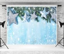 Kate7ft(W) x5ft(H) Christmas Photo Backdrop Xmas Background Blue Christmas Backdrop for Photography Photo Studio Props Fabric