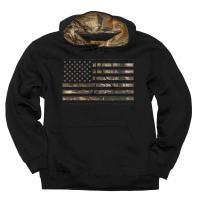 Buck Wear Men's Camo Stars & Stripes Hoodie