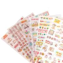 Lovely Cat Kitten Kitty Stickers, Super Cute Small Assorted Stickers Pack for Diary Scrap Book Kids Craft Cartoon Scrapbooking Album Décor Decoration, Korean School Office Stationery, 18-Sheets