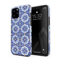 BURGA Phone Case Compatible with iPhone 11 PRO MAX - Blue City Moroccan Tiles Pattern Mosaic Cute Case for Girls Heavy Duty Shockproof Dual Layer Hard Shell + Silicone Protective Cover