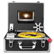 Pipe Inspection Camera,165ft Pipeline Drain Sewer Industrial Endoscope 50M Cable Waterproof IP68 Cable Snake Video System with 7 Inch LCD Monitor 1000TVL Sony CCD DVR Recorder Sewer Camera (50M-DVR)