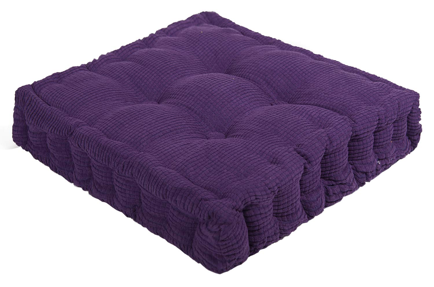 ChezMax Soft Corduroy Cotton EPE Cotton Filled Chair Cushion Thickened Tatami Solid Color Pad for Home Office Dinning Chair Indoor Outdoor Seat Chair Pad Purple 16 X 16 inch