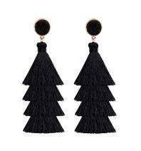 NLCAC Tassel Earrings Bohemian Tiered Thread Tassel Drop Dangle Earring with Druzy Stud Ear Earrings