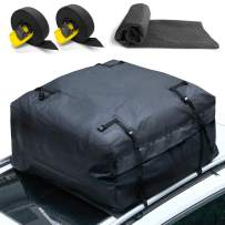 Leader Accessories Cargo Bag 15 Cubic Feet Capacity Ratchet TID Down Strap Rooftop Waterproof Cargo Carrier