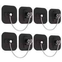 eSynic Refrigerator Locks, 4 Pack Fridge Lock with Keys Child Safety Cabinet Locks with Strong Adhesive Safety Locks Set for Appliances Kitchen Cabinets Fridge Door Refrigerator Cabinet Drawer Black