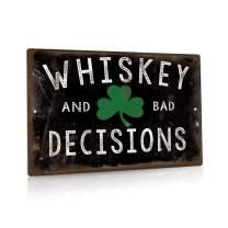 """Putuo Decor Bad Decisions Metal Tin Sign Man Cave Bar Pub Decor 8"""" x 12"""""""