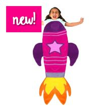 Blankie Tails | Rocket Wearable Blanket - Double Sided Super Soft and Cozy Minky Fleece Blanket, Machine Washable Premium Quality Rocket Fun Blanket for Kids (Pink)