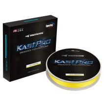 KastKing KastPro Braided Fishing Line - Spectra Super Line - Made in The USA - Zero Stretch Braid - Thin Diameter - On Biodegradable BioSpool! - Aggressive Weave - Incredible Abrasion Resistance!