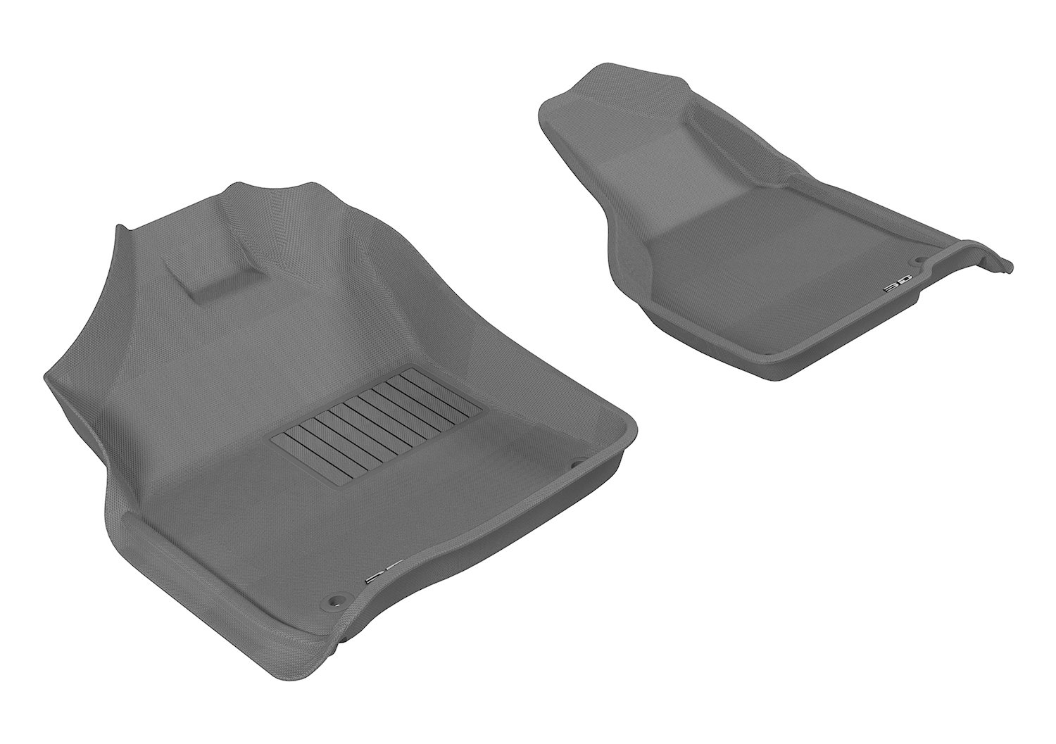 3D MAXpider Front Row Custom Fit All-Weather Floor Mat for Select Dodge Models - Kagu Rubber (Gray)