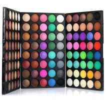 120 Colors Eyeshadow Palette Makeup Set,SILVERCELL Shimmer Natural Nude and Bright Combination