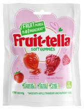 Fruittella Soft Gummies, Strawberry and Raspberry Fruit Flavors, 5 oz (Pack Of 12)