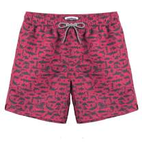 MaaMgic Mens Short Board Shorts with Mesh Lining Quick Dry Swim Trunks for Surfing Beach Wear with Pockets