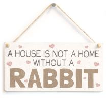 Meijiafei A House is Not A Home Without Rabbits PVC Sign/Plaque
