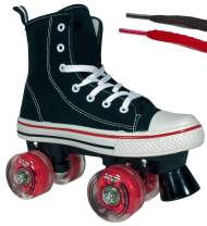 Lenexa Roller Skates for Girls and Boys MVP Kid's Unisex Quad Roller Skates with High Top Shoe Style for Indoor/Outdoor