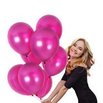 Metallic Magenta Pink Balloons Garland 100 Pack 12 Inch Latex Fuchsia Hot Pink Balloon Arch Bridal Shower Wedding Decorations for Unicorn Baby Shower Birthday Graduation Party Supplies