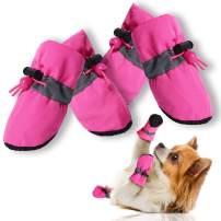 CALHNNA Paw Protector for Dogs and Cats -Dog Boots -Dog Shoes with Adjustable Straps,Anti-Slip and Prevent Dog Paw Burns, Suitable for Small Medium Dogs