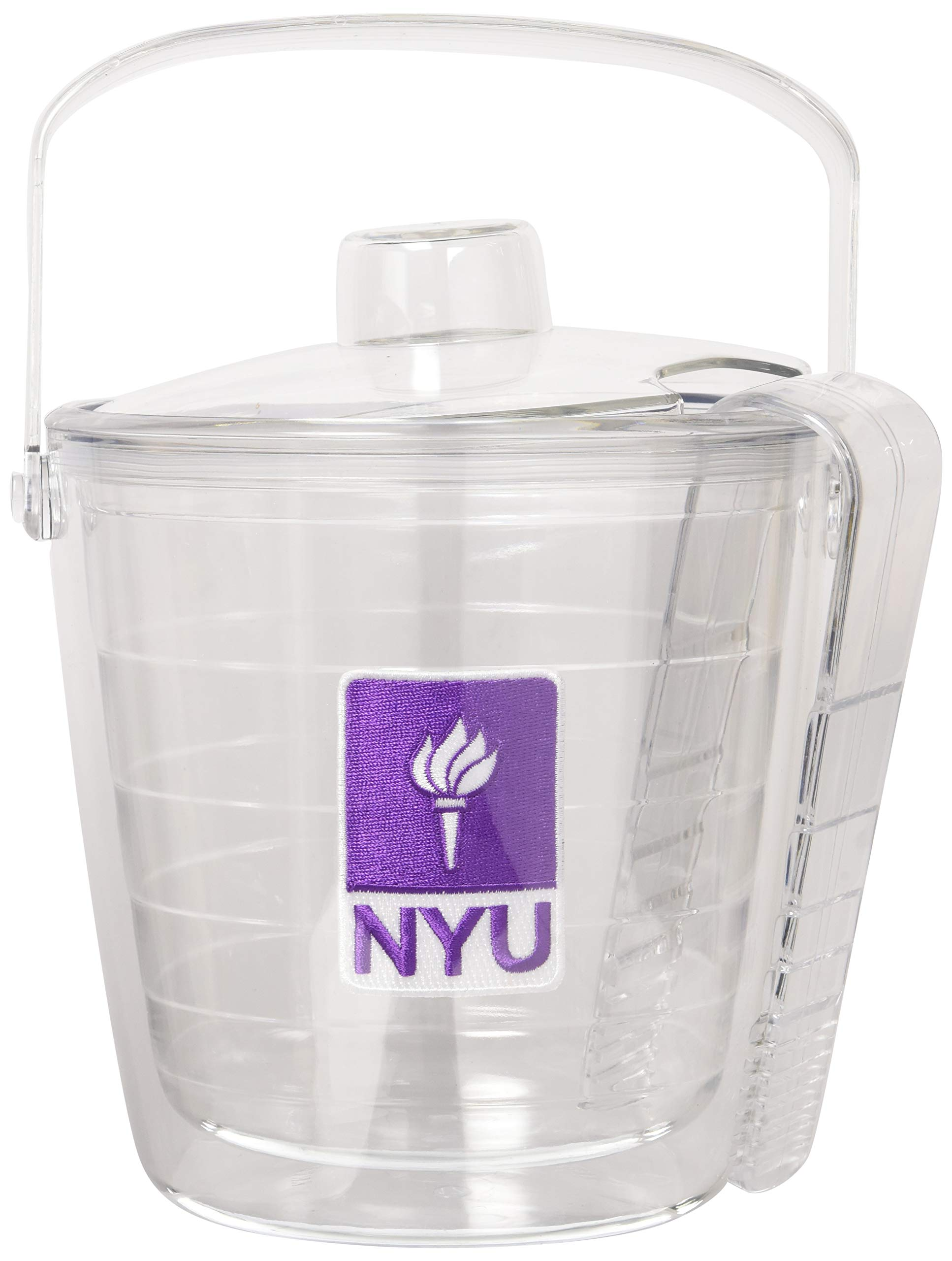 Tervis 1053453 NYU Violets Logo Ice Bucket with Emblem and Clear Lid 87oz Ice Bucket, Clear