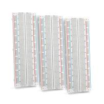 Chanzon 3 pcs Breadboard with 830 Tie Points (MB-102) Solderless Prototype Kit Universal PCB Bread Board Plus 2 Power Rail and Adhesive Back for Small DIY Kits Arduino Proto Raspberry rasp Pi Project
