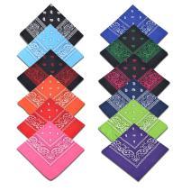 Cotton Bandanas,Alotpower Multifuctional Paisley Print Headbands Bandana