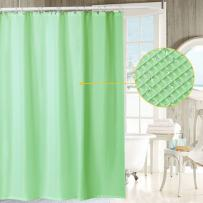 IDEALHOUSE Waffle Fabric Shower Curtain - Waffle Weave Fabric,Hotel Grade, Water Repellent, Washable - 72 x 72 inches
