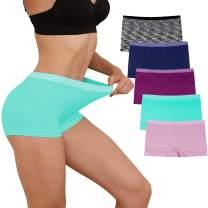 Women Boyshort Underwear Seamless Boxer Panties No Show BoyShorts Panty Breathable Stretch Boxer Briefs for Ladies 5 Pack
