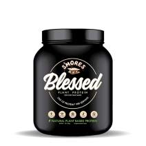 BLESSED Plant Based Protein Powder – 23 Grams, All Natural Vegan Protein, 1 Pound, 15 Servings (S'mores)