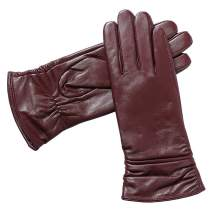 Womens Winter Genuine Leather Gloves - Acdyion Luxury Touchscreen Warm Soft Dress Driving Cashmere Lined Gloves