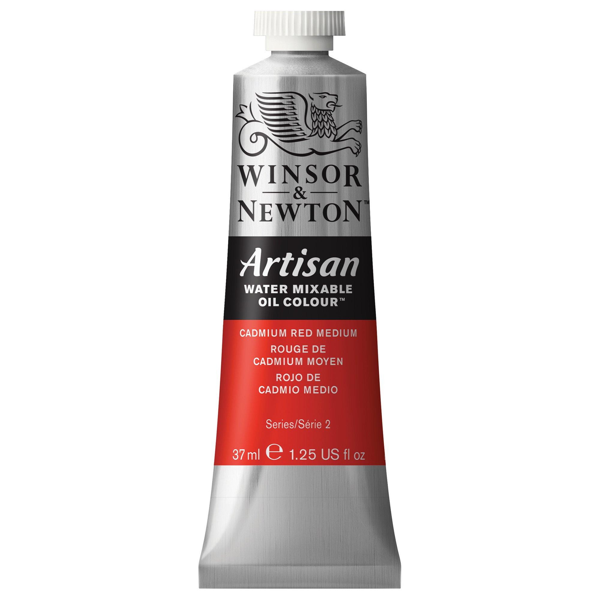 Winsor & Newton 1514099 Artisan Water Mixable Oil Colour 37ml Tube, 37-ml, Cadmium Red Medium