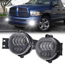 Dodge LED Fog Light for Dodge Ram 1500 2500 3500 Driving light 2003 2004 2005 2006 2007 2008 Black
