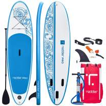 redder Inflatable Stand Up Paddle Board with Premium SUP Accessories & Carry Bag | Wide Stance, Bottom Fin for Paddling & Surfing | Leash, Paddle and Hand Pump, Non-Slip Deck | Youth & Adult