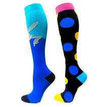 Iseasoo Compression Socks for Men & Women -2/4 Pairs - Best Graduated Athletic Fit for Running, Flight Travel, Pregnancy