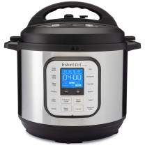Instant Pot Duo Nova 7-in-1 Electric Pressure Cooker, Slow Cooker, Rice Cooker, Steamer, Saute, Yogurt Maker, and Warmer|8 Quart|Easy-Seal Lid|14 One-Touch Programs, Stainless Steel/Black