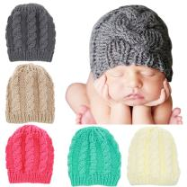 Quest Sweet Baby Knit Hat, Baby Winter Cap, Large Beanie Hats for Children Aged 2-7 Years