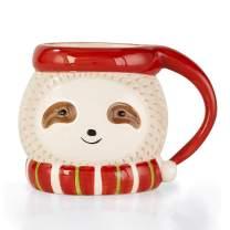 Onebttl Sloth Mugs 12oz - 3D Ceramic Animal Mug for Sloth Lovers - Best Sloth Gift Idea for Women, Girls, Kids - Hot Cocoa Gift for Children