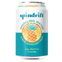 Spindrift Sparkling Water, Pineapple Flavored, Made With Real Squeezed Fruit, 12 Fl Oz Cans, Pack Of 24 (Only 13 Calories per Seltzer Water Can)