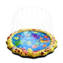 Conthfut Toddler Sprinklers Splash Water Play mat, 39in-Diameter Splash pad Outdoor Sprinkle Mat Summer Fun Water Toys Toddler Boys Girls