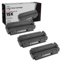 LD Compatible Toner Cartridge Replacement for HP 15X C7115X High Yield (Black, 3-Pack)