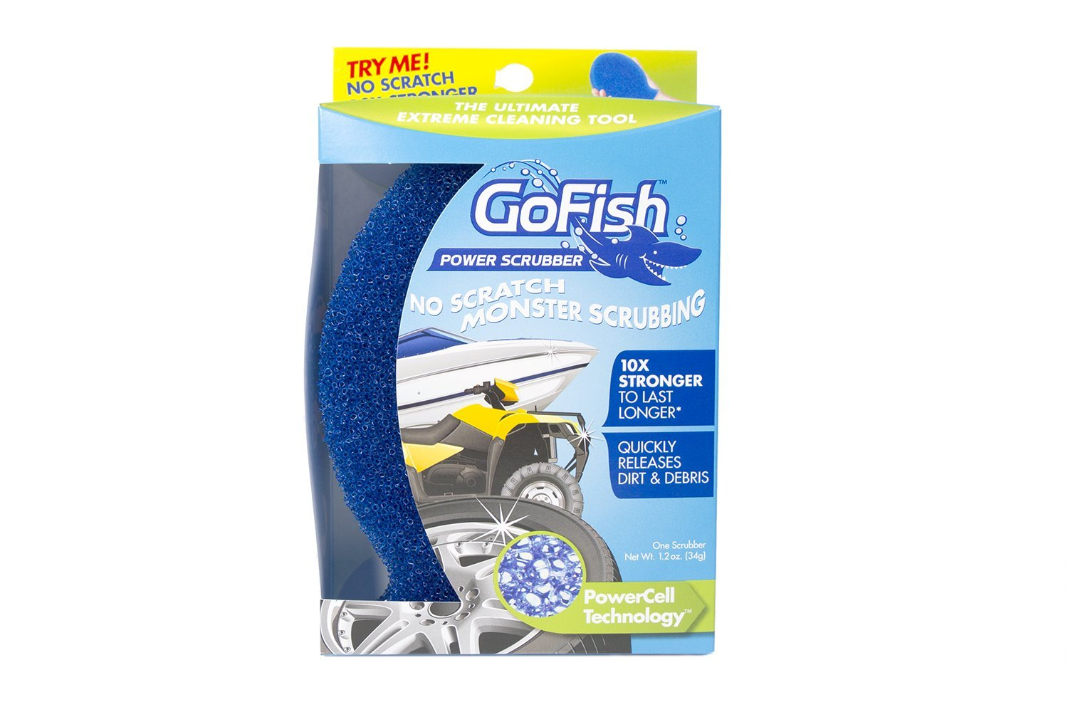 GoFish Scrubber CP120-1, Multi-Purpose Cleaning Sponge, 1-Pack