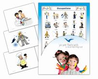 Yo-Yee Flashcards - Occupations and Jobs Flash Cards - English Vocabulary Picture Cards for Toddlers 2-4 Years, Kids, Children and Adults