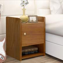 JERRY & MAGGIE - European Style Modern Nightstands 2 Tier Drawer Shelves Storage Bed Side Table - Multi Function Closet Shelf Organizer - Natural Wood Tone