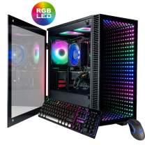 CUK Continuum Micro Gamer PC (AMD Ryzen 7 3700X, 32GB 3200MHz RAM, 1TB NVMe SSD + 2TB HDD, NVIDIA GeForce RTX 2080 Ti 11GB, 700W Gold PSU, AC WiFi, Windows 10 Home) Gaming Desktop Computer