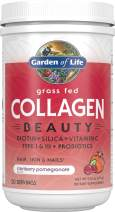 Garden of Life Grass Fed Collagen Beauty, Cranberry Pomegranate, 20 Servings, Collagen Powder for Women Men Hair Skin Nails, Hydrolyzed Collagen Peptides Powder Supplement *Packaging May Vary*