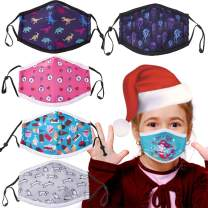 IYOE Children Cotton Face Mask Washable Breathable Cotton Fabric Stretchy Ear Loops Covering UV Sun Dust Proof Face Protections Adjustable Elastic