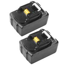 ARyee 5000mAh 18V BL1850 Replacement Battery LXT Lithium-Ion for Makita BL1830 BL1840 BL1850B BL1860 Cordless Power Tools with LED Indicator (2)