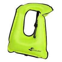 OMOUBOI Inflatable Snorkel Vest Adult for Adults Women Men, Snorkeling Life Vest with Crotch Strap for Snorkeling Diving Swimming