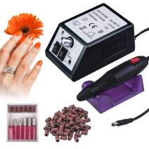 Electric Nail Drill,20,000 RPM Professional Nail Drill for Acrylic Nails Nail Art Polisher Sets Glazing Nail Drill Fast Manicure Pedicure with 100pcs Sanding Bands,Low Heat Low Noise Low Vibration