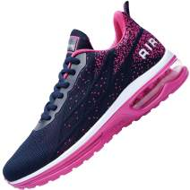 AUPERF Womens Athletic Tennis Running Shoes Air Sports Walking Comfortable Gym Sneakers (US5.5-10 B(M)